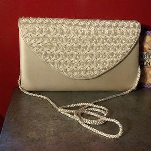 Ivory colored handbag